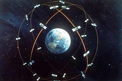 Navstar Satellite Orbit  Graphic