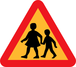 Parent and Child Warning Triangle